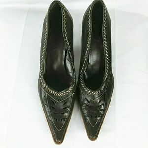 Bronx Brown Leather Women's Dress Work Shoe Heels